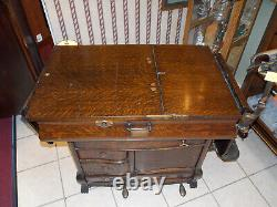 1800's Clark & Roberts Tiger Oak Doctor's Medical Exam Table PICKUP ONLY