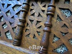 1890 Tiger Oak Eastlake Spoon Carved Panel Victorian Fretwork Architectural Door