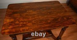 1890s Antique Victorian Eastlake Tiger Oak Writing desk / office desk