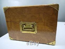 1899 Large ANTIQUE Tiger GOLDEN OAK SILVERWARE Storage BOX CHEST English Mullen