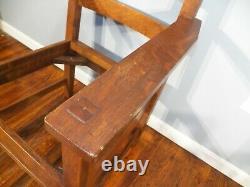 1910 LIFETIME Mortised Arm Chair Mission Tiger Oak Arts & Crafts Stickley Era