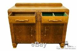 1940's Antique Vintage Tiger Oak Country French 48 Buffet / Sideboard