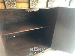 1940's Antique Vintage Tiger Oak Country French art deco 53 Buffet / Sideboard