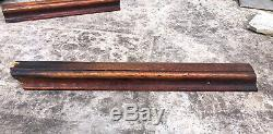 19 Feet Antique Solid Tiger Oak Wood Hand Rail Banister Salvage Architectural