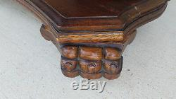 19th C. American Empire Tiger Oak Library / Writing Table from UT Austin Texas