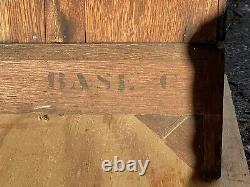 19th C Antique Victorian Tiger Oak Barrister Bookcase Danner Manufacturing Co