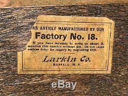 19th C Antique Victorian Tiger Oak Larkin Server / Sideboard Clean