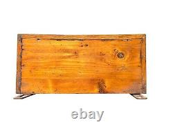 19th C Antique Victorian Tiger Oak Wall Hanging Medicine Cabinet