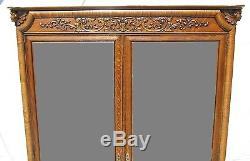 19th C Victorian Tiger Oak Carved Antique Bookcase / China Cabinet Horner Nyc