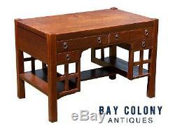 20th C Antique Arts & Crafts / Mission Oak Tiger Oak Desk