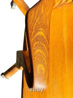 20th C Antique Tiger Oak Swivel Office / Desk Chair B. L Marble Co Bedford Ohio