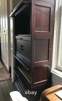 4 Stack Barrister Bookcase 1915s Era top/base and Secretary