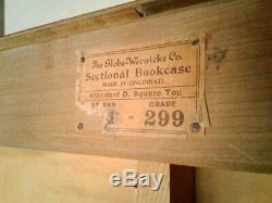 ANTIQUE BARRISTER BOOKCASE 4 STACK TIGER OAK Globe Wernicke