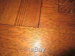 Acanthus Carved Tiger Oak Double Diamond Beveled Wall Mirror Coat Rack Shelf