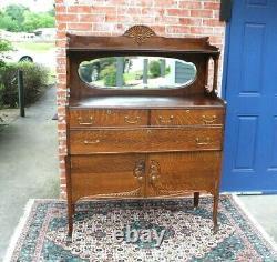 American Antique Tiger Oak Server / Buffet / Sideboard