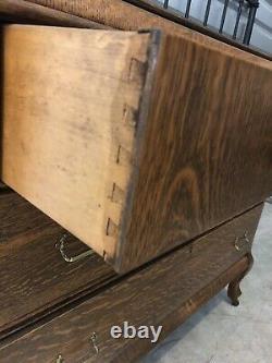 American Tiger Oak Dresser With Mirror