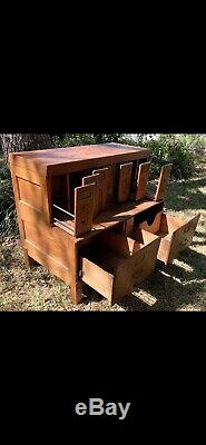 Antique1930s-40sTiger Wood OakSchoolhouseLawyer StyleFiling Cabinet