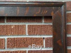 Antique ARTS & CRAFTS Mission Tiger OAK Wood FRAME 16 x 20 in. Fit c1900s