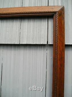 Antique Art Crafts Mission Honey Tiger Oak Carved Edge Picture Frame 18 x 22