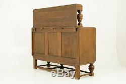 Antique Art Deco Sideboard, Buffet, Credenza, Tiger Oak, Scotland 1930, B1709A