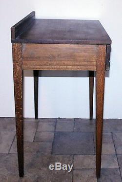 Antique Arts & Crafts MISSION OAK WRITING DESK Solid Quartersawn Tiger Oak