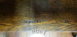 Antique Dental Cabinet American Cabinet Tiger Oak acid etched