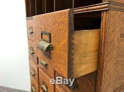 Antique Early 20th Century Tiger Oak Barrister File Cabinet