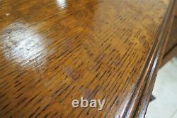 Antique Edwardian Tiger Oak Buffet Circa 1900