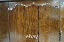 Antique English Tiger Oak Hanging Corner Cabinet
