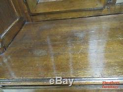 Antique French Wardobe Armoire Hutch Dresser Chest Carved Tiger Oak
