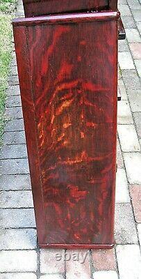 Antique GLOBE WERNICKE Quartersawn Tiger Red Oak 4 Stack Barrister Bookcase