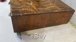 Antique GLOBE WERNICKE Tiger Oak 2 Drawer Card Catalog Absolutely Stunning