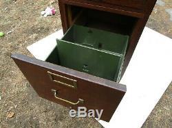 Antique Globe Stacking C1910 3 Stack Tiger Oak Original Mint File Cabinet