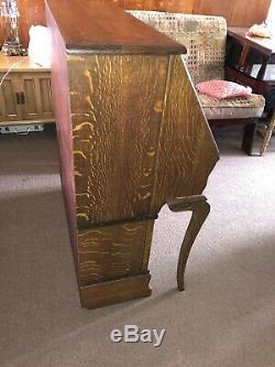 Antique Globe Wernicke Tiger Oak Stack Bookcase Desk Combo / Lots Of Tiger