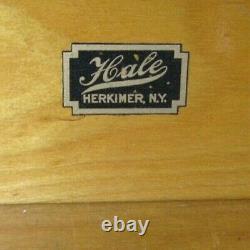 Antique HALE QUARTERSAWN TIGER OAK 4 STACK BARRISTER LAWYER'S STACKING BOOKCASE