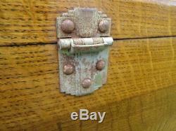 Antique H. Gerstner Machinist Engineer Tool Box 11 Drawer Tiger Oak with Keys