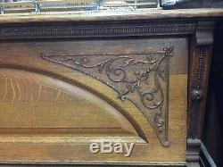 Antique Hamilton Upright Cabinet Grand Digital Piano Conversion Tiger Oak