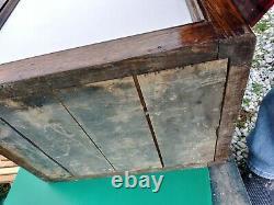Antique Ice Box Refrigerator HumidorTiger Oak Wood