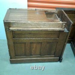 Antique Leyden & Van Beest Tiger Oak Roll Top Desk