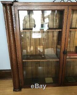 Antique Mission Tiger Oak Cabinet Arts & Crafts Bookcase Cabinet Historic Harley