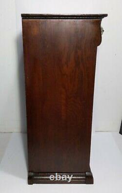 Antique Mission Tiger Oak Music Sheet Record Album Holder Storage Cabinet Drawer