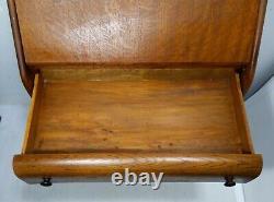 Antique Mission Tiger Oak Wood Drop Front Secretary Desk Bureau Victorian Ladies