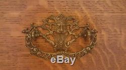 Antique Northwind Furn. Co Tiger Oak Sideboard Buffet Mirror Carved Face Face