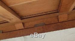 Antique Oak Arts & Crafts Bookcase / China Cabinet Lifetime Furniture Co
