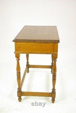 Antique Oak Table, Carved Oak Table, Tiger Oak, Scotland 1910, B1420A