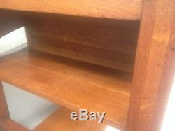 Antique Original Stickley Tiger Oak Table Desk Early 1900's