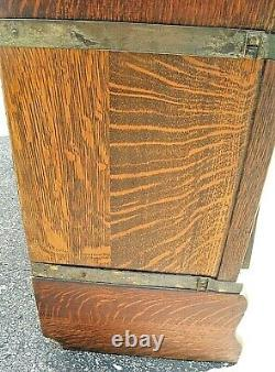 Antique QUARTERSAWN TIGER OAK 299 GLOBE WERNICKE BARRISTER STACKING BOOKCASE