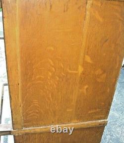 Antique QUARTERSAWN TIGER OAK HALE BARRISTER 6 Piece Stacking Lawyer's BOOKCASE