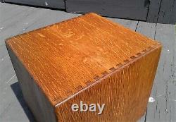 Antique Quarter Sawn Oak 6 Drawer Desk Top File Cabinet 1930s