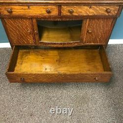 Antique Quarter Sawn Oak Server Buffet Cabinet